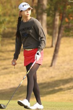Pantyhose Outfits, Black Pantyhose, Black Tights, Pantyhose Heels, Nylons, Girl Golf Outfit, Cute Golf Outfit, Fashion Tights, Tights Outfit