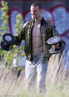 Cranking up in Hollywood: Ryan Gosling directs shirtless 'Dr Who' star Matt Smith in scenes for his directorial debut How To Catch A Monster