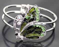Fashion Retro Style Green Butterfly Charming Bangle Bracelet Hot !! 34…
