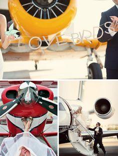 Love at First Flight, Airplane Wedding Inspiration Board