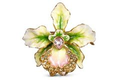 Celebrate Spring with Jay Strongwater's Luminous Orchids in Full Bloom at http://www.styleforfree.com/#stylebuzz