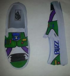 children hand painted buzz shoes by ShoesbyShawndy on Etsy, $45.00
