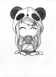 Panda girl drawing beauthiful :D