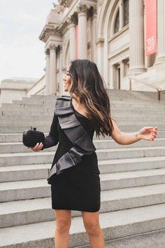 Holiday Dressing :: Velvet dress & Tuxedo jacket