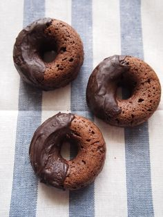 double chocolate tofu baked doughnut
