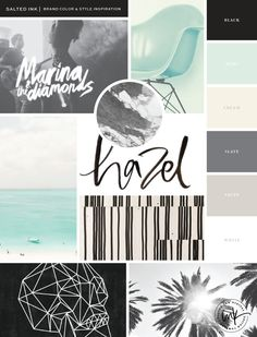 The New Salted Ink Brand | Mood Board by Salted Ink | Please find all image credits at www.saltedink.com [Color scheme: Room]