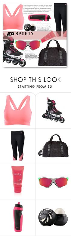 """Rollerblades Fun!"" by cassandria ❤ liked on Polyvore featuring Fila, Vera Bradley, Decléor, Oakley, NIKE, Eos and plus size clothing"