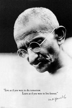 Gandhi Live Forever Poster
