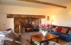 Tincleton Lodge & Rose Cottage are two 5 Star Holiday Cottages in Dorset that enjoy an idyllic rural location set in 600 acres. A perfect family holiday Cottage Fireplace, Inglenook Fireplace, Fireplace Design, New Living Room, Home And Living, English Cottage Interiors, Home Board, Decoration, New Homes