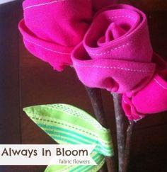 Fabric Flowers Always in Bloom | Tee Shirt Flowers