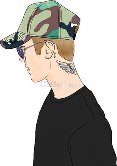 Justin Profile Drawing by Outlyning Designs