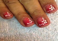 Cute Nail Designs For Short Nails: Pink Ombre Floral For Short Nails ~ fixstik.com Nail Designs Inspiration