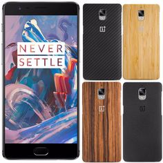 100% Original Sandstone Black Kevlar Rosewood Bamboo Hard Back Case Cover Protector with Package For OnePlus One Plus Three 3 3T