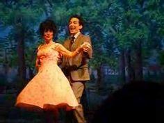 "Paul Mullen (Albert) and Laurie Edwalds (Rose) perform ""Rosie"" live in Magical Starlight Theatre's January 2008 production of Bye Bye Birdie. Bye Bye Birdie, Films, Movies, Elvis Presley, Musicals, Disney Characters, Fictional Characters, Trees, Tv"