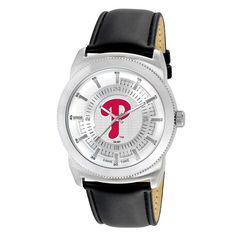 Philadelphia Phillies Leather Vintage Watch - Black - $39.99