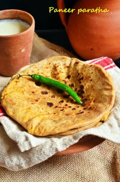 Dhaba style paneer paratha recipe,rustic and wholesome thick paneer stuffed paratha recipe @ http://cookclickndevour.com/paneer-paratha-recipe