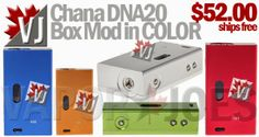 Chana DNA20 7-20W Box Mods in COLOR