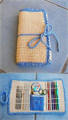 my crochet hook case:
