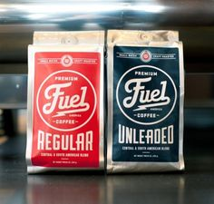 Fuel America Coffee Branding | Restaurant branding, marketing and other notes on various design topics