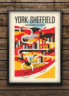 Tour 2014 / Stage 2 by Neil Stevens Print Shop
