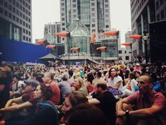 At the world premiere of Phillip Glass's Overture for 2012. Good times at Lluminato, June 17 - Tweeted by @meatsmoothies