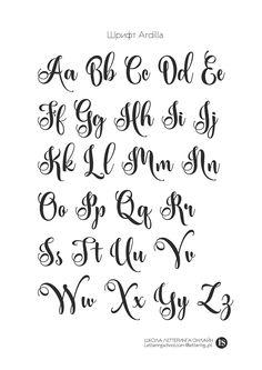 Trendy Ideas Tattoo Fonts Cursive Alphabet Style Hand Lettering - Trendy Ideas Tattoo Fonts Cursive Alphabet Style Hand Lettering Best Picture For - Modern Calligraphy Alphabet, Calligraphy Fonts Alphabet, Handwriting Alphabet, Tattoo Lettering Fonts, Hand Lettering Alphabet, Cursive Letters, Handwriting Practice, Tattoo Font Styles, Fancy Handwriting