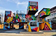 Village Underground Lisboa by akaCorleone | Stick2Target – Street Art &…