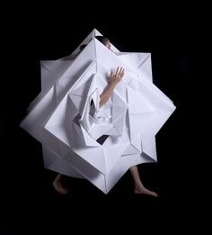 jun nakao, origami dress