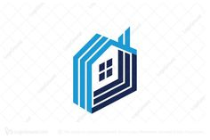 Logo for sale: Unique Real Estate House Logo. Simple abstract house logo. The symbol itself will looks nice as social media avatar and website or mobile icon. house home construction property properties management buy sell product business brand design graphic unique recognized professional mortgage residential buy purchase sell on sale sold app apps game software application logo logos realty realtor real estate agent online