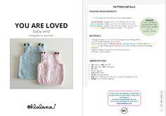 Knitting Blogs, Knitting Patterns, Knit Vest Pattern, Baby Vest, Baby Makes, Garter Stitch, Stitch Markers, Baby Patterns, Weaving