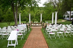 An outdoor shot of our ceremony site.  Chestnut Hill Bed and Breakfast, Orange, VA. www.chestnuthillbnb.com/weddings
