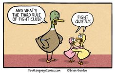 "I think about saying ""fight quietly"" sometimes, too! Funny Cute, Funny Kids, The Funny, Hilarious, Good Parenting, Parenting Humor, Kids Fighting Humor, Fowl Language Comics, The Awkward Yeti"