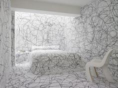 Doug Meyer interior, black and white bedroom