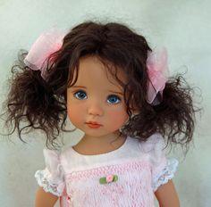 "Dianna Effner's Little Darling #1Darker Skin ""Jovi"" Painted by Joyce Mathews"