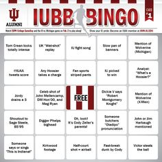 Add EVEN MORE fun to your IUBB game watching with IUBB BINGO from the IUAA!