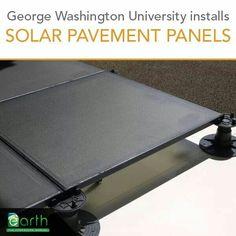 Solar panel pavement