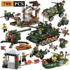 Band of Brothers 6pcs WW2 Minifigure Set Battle of Normandy World War 2 II