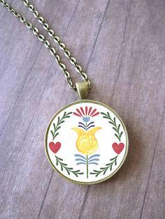 FOLKLÓR | Náhrdelník s kvetinovým motívom | The Unicornlette Shop
