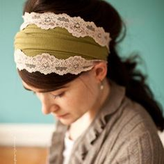 I bought this, and MYGOODNESS is it amazing. I've gotten many compliments on it while I'm out, and it's so very comfortable. Other colors to choose from, but this green goes with my hair pretty well. xD (shabby chic lace stretch headband)