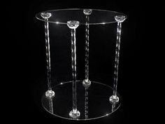 Acrylic 4-Pillar Cake Stand