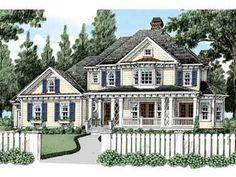 Four Bedroom Cottage (HWBDO63956) | Cottage House Plan from BuilderHousePlans.com