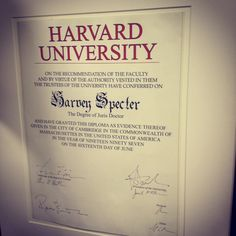 Some lawyers actually went to Harvard.