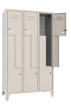 Armadio Spogliatoio Metallo 6 Posti Anta a Z multifunzione monoblocco sovrapposto in lamiera di acciaio alta qualità - Serratura a cilindro inclusa - N.3 Colonne - N.6 Vani - Armadietto mm 1200x500x1800 - Metri Cubi 0,91 - Vano (LxPxH) 358/170x480x1140 mm. Capacità Litri Kg. 64. Grigio Luce RAL 7035. Colori Assortiti di Design. Made in Italy. Qualità Superiore. Adatto a dipendenti e qualsiasi spazio, Aziende, Palestre, Comunità. Accattivante anche per Linving/Home. Info Whatsapp 3737180535 Metallica, Lockers, Locker Storage, Open Space, Cabinet, Furniture, Home Decor, Clothes Stand, Closet
