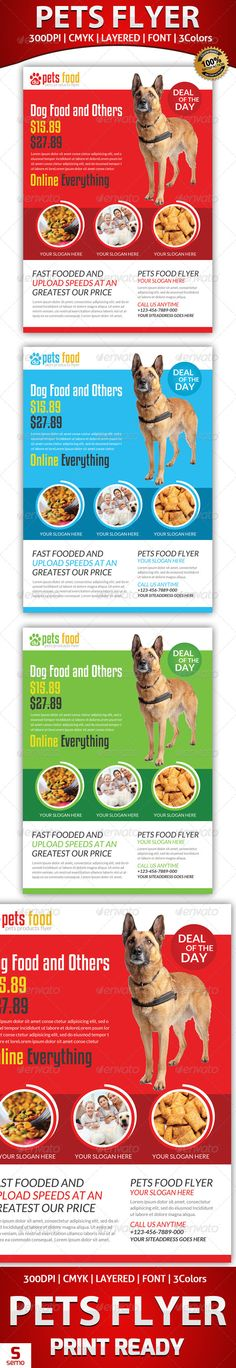 Pets Store Flyer Template #GraphicRiver Pets Store Flyer Template Photos links are included in the help file. Many thanks for purchasing my item from the envato marketplace. Please don't forgot to rate. //————————-—// All designs in to design //————————-—// Pets Store Flyer Template Fully layered PSD 300 Dpi, CMYK Completely editable, print ready Text/Font or Color can be altered as needed All Image are in vector format, so can customise easily Photos are not included in the file…