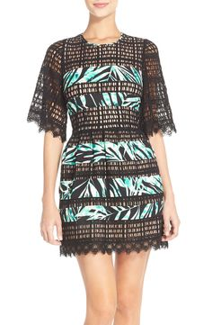 BCBGMAXAZRIA 'Layna' Lace Fit & Flare Dress