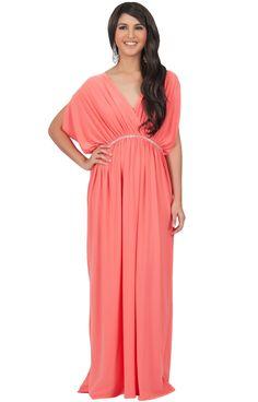 2c9a924894 FREEDA - Long Elegant Grecian Flowy Baby Shower Dressy Maxi Dress Gown