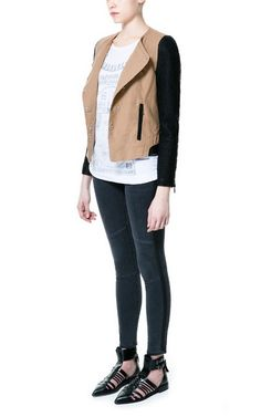 COMBINATION BIKER JACKET - Trf - Blazers - Woman | ZARA United States