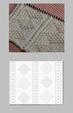 Easy Knitting Patterns, Knitting Charts, Knitting Designs, Stitch Patterns, Filet Crochet Charts, Crochet Stitches, Knitted Blankets, How To Knit, Knitting Patterns