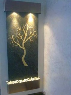 modern wall fountains for tranquil interior decorating and home