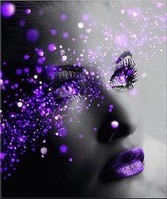 Things I Love About: Beautiful Colors Purple Haze, Shades Of Purple, Deep Purple, Purple And Black, Pink Purple, Purple Lips, Purple Makeup, Purple Sparkle, Black White
